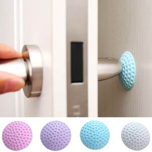 3Pcs Baby Safety Door Care Tool Door Knob Silencer Crash Pad Wall Protector Silicone Door Stopper Anti Collision Stop Products