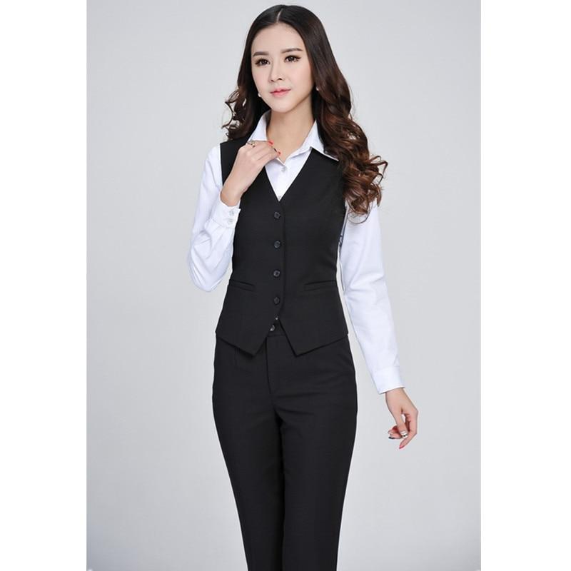 Set Pièce Uniformes De Offre Pantalon Sur Complet Fait Bureau Mesure Dames Blazer Femmes Travail Gilet Spéciale 3 Avec Formelle Nouvelle Mode 6OqnwfxHO
