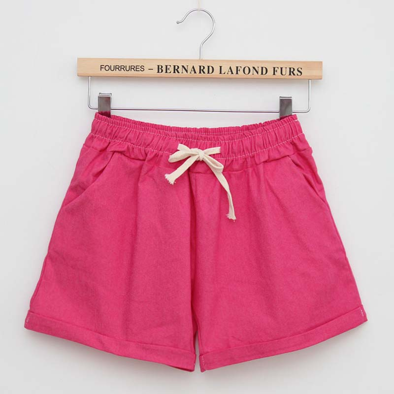 2016 Sommarstil Shorts Kvinnor Candy Color Elastic With Belt Short - Damkläder - Foto 6
