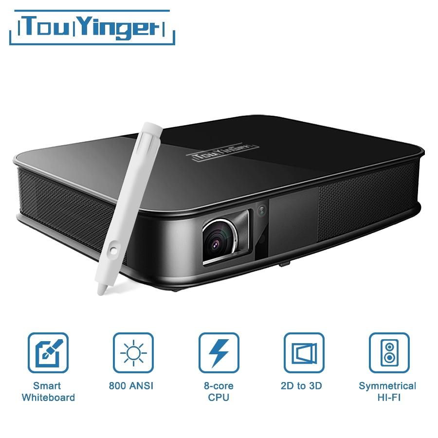 Touyinger G5 800 ANSI сенсорный 4 К к умный проектор Bluetooth Android wifi домашний светодио дный кинотеатр светодиодный Full HD мини проектор DLP видео