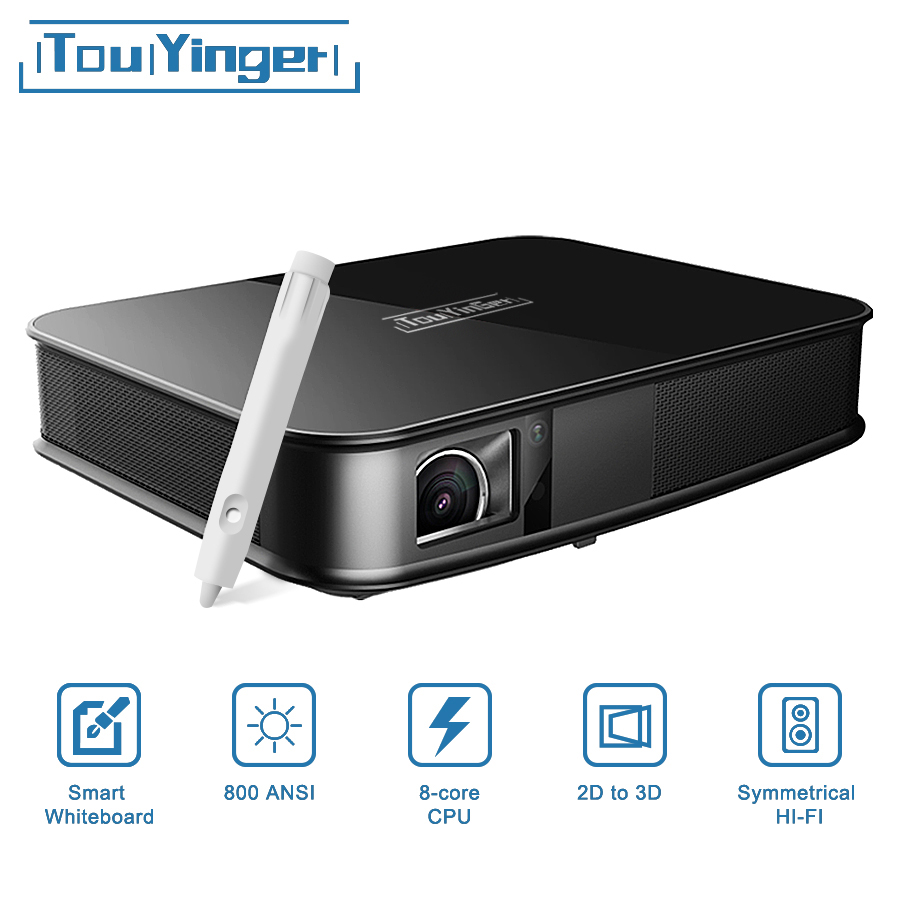 Touyinger G5 800 ANSI Touch 4 k Smart Proiettore Bluetooth Android WIFI Home Theater Full HD HA PORTATO Mini Proiettore DLP video Beamer