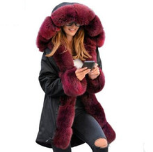 New Fall Winter Women Fashion Cotton Thicken Warm Long Parkas Wool Appearance Clothing Slim Fur Collar Hat  Overcoats Belt Tops все цены