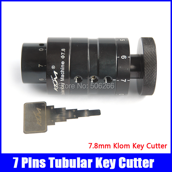 Free shipping 7.8 mm 7 pins tubular klom locksmith key cutter machine professiona locksmith supplies