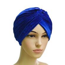 muslim turban women inner hijabs plain islam wimple headband sleeping india caps arabic mujer hats velvet prayer cap