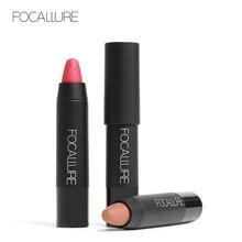 FOCALLURE 7 New Matte Colors Lipstick Waterproof Makeup Pigment Brown Nude Matte Lipstick Matte Lip Stick
