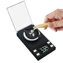 Báscula electrónica de alta precisión, 0.001g, 100g, diamante, oro, germen, medicina, bolsillo, Digital