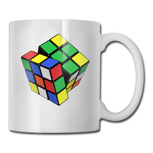 Rubik's Cube coffee mug printed children tazas ceramic tumbler caneca tea Cups