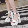 Горячий продавать женщины 2017 новые толстые подошве туфли на высоком каблуке сандалии платформы обувь России летняя мода сексуальные сандалии