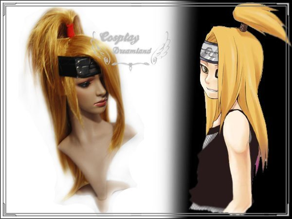 Wholesale Free Shipping Hot Selling Cheapest Halloween Naruto Cosplay Wig Deidara Wig without headband