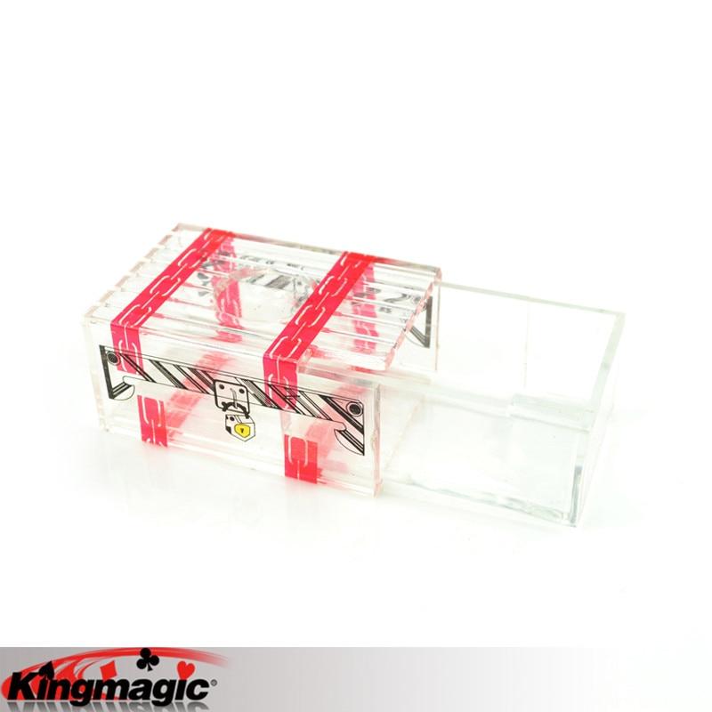 Transparent Box Children Kids Magic Tricks Props Toys
