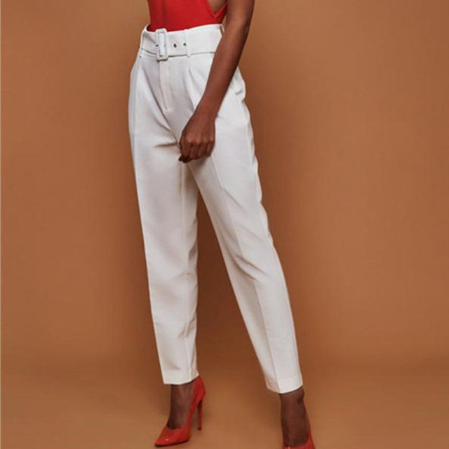 Women's Casual Straight High Waisted Pants – 21JS