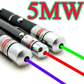 Potente Azul Rojo Verde Militar Lápiz Puntero Láser de Haz de Luz 5 mW Profesional de Alta Potencia lazer Presentador Venta Caliente