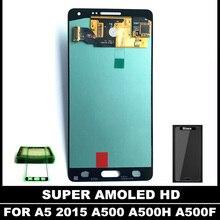 Haute Qualité SUPER AMOLED LCD pour Samsung Galaxy A5 2015 A500 A5000 Écran lcd Écran Tactile avec Digitizer Assemblée Autocollant