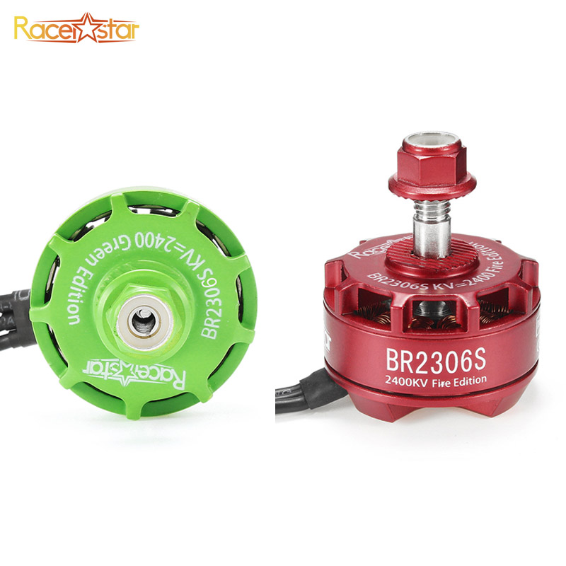 Original Racerstar 2306 BR2306S Fire/Green Edition 2400KV 2-4S Brushless Motor For RC Multicopter Prop X210 X220 250 300 Frame 2017 original 4pcs 4x racerstar racing edition 2306 br2306s 2700kv 2 4s brushless motor for x210 x220 250 fpv racer quadcopter
