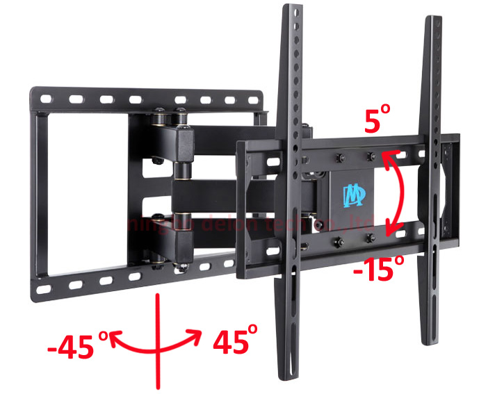 full motion 30inch 42INCH 55inch 60inch retractable led tv wall mount dual arm lcd bracket stand plasma holder-in TV Mount from Consumer Electronics on ...