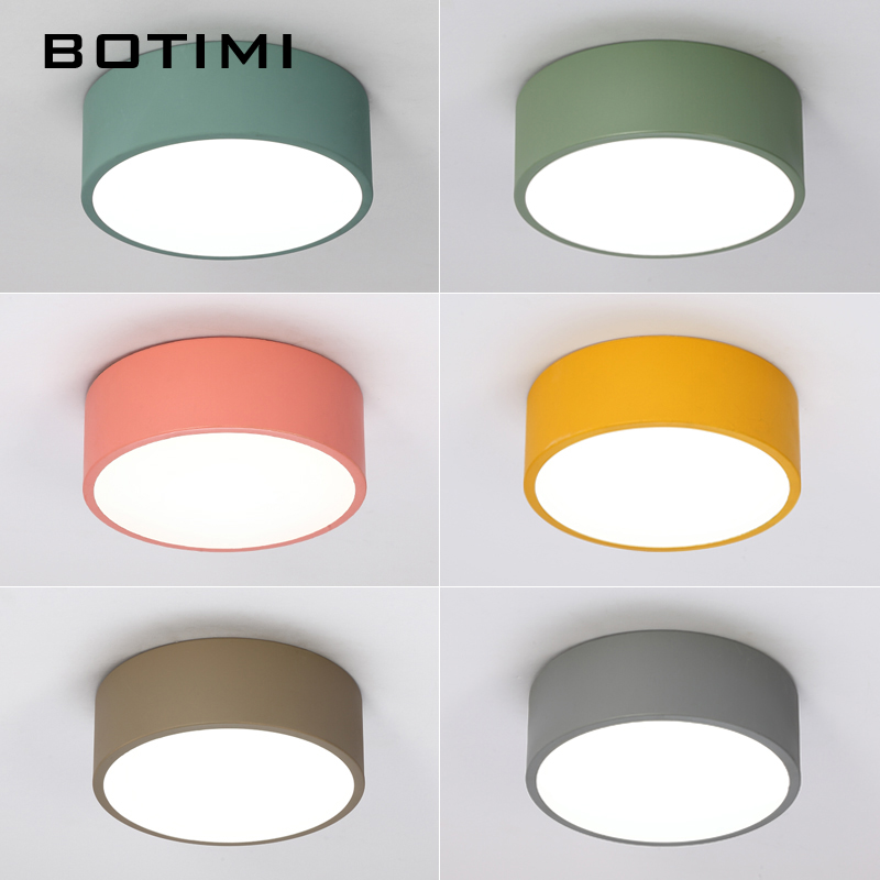 Image 2 - BOTIMI New Arrival LED Ceiling Lights Colorful Ceiling Lamp For Corridor Colors Kids Room Light Metal Lampshade Kitchen Lighting-in Ceiling Lights from Lights & Lighting