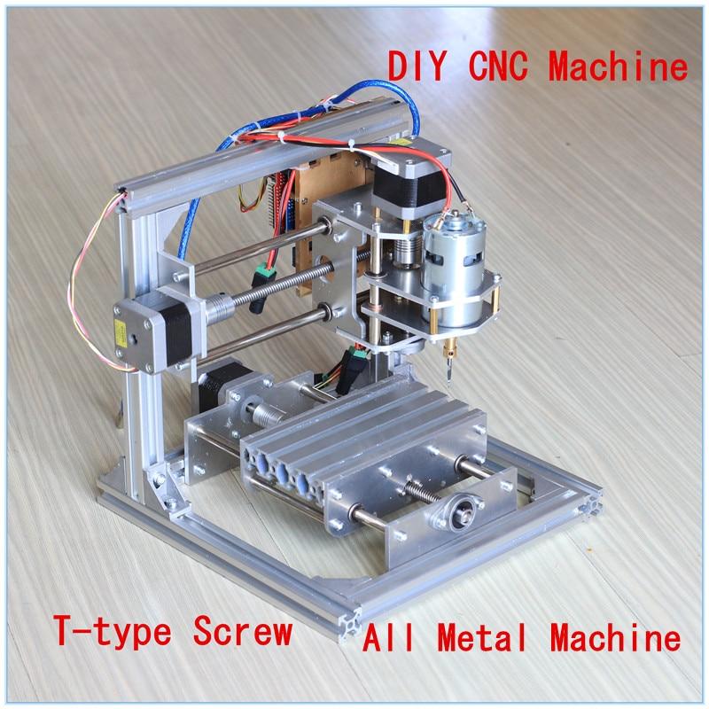 Diy CNC Engraving Machine , Working Area 130*100*40mm ,PCB Milling Machine CNC Wood Carving Mini Engraving Router PVC