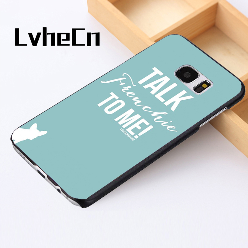 Lvhecn Телефон чехол для Samsung Galaxy S3 S4 S5 Mini S6 S7 S8 Edge Plus note2 3 4 5 8 Французский бульдог говорить frenchie собака цитата