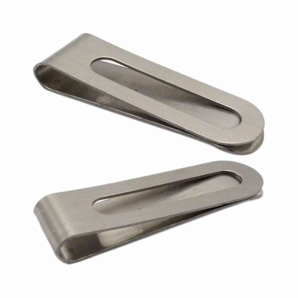 1 pièces nouveau en acier inoxydable en métal pince à billets mode Simple argent Dollar argent argent support à pince portefeuille pour hommes femmes