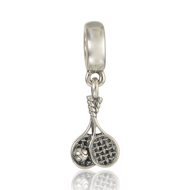 Pandulaso tennis sports pendants ball charms for jewelry making pandulaso tennis sports pendants ball charms for jewelry making fashion diy fit original charms silver 925 mozeypictures Gallery
