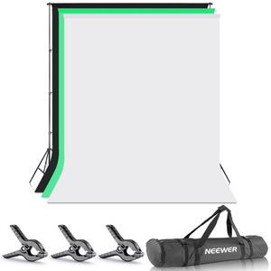 Neewer Photo Studio 8,5X10 pies/2,6X3 metros telón de fondo Stand sistema de soporte de fondo con 1,8X2,8 metros tela telón de fondo