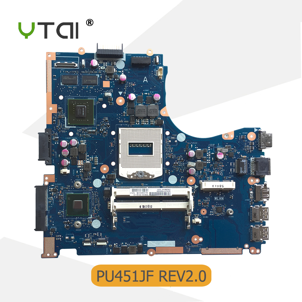YTAI For ASUS PU451JF laptop motherboard REV2.0 HM87 socket 940 DDR3 for NVIDIA GeForce 930M graphics card mainboard стоимость