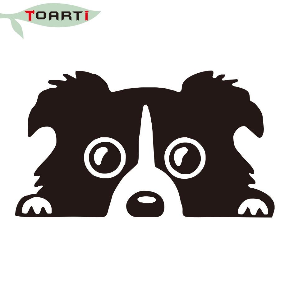Sınır Collie Köpek Pet Kişilik Yansıtıcı Cam Arka Pet Araba Sticker Vinil Yapıştırıcı Oto Tampon Aksesuarları Çıkartmaları Siyah