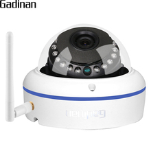 GADINAN Wifi IP Camera H.265/H.264 Vandal-Proof Dome ONVIF Motion Detection 25FPS 1080P HI3516CV300 Security 802.11b/g/n 150Mbps
