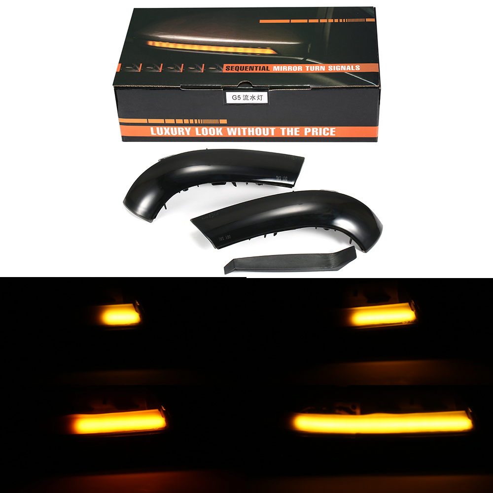 1 Set LED Turn Signal Wing Flowing Light Rearview Mirror Indicator Light Side Mirror Sequential Blinker