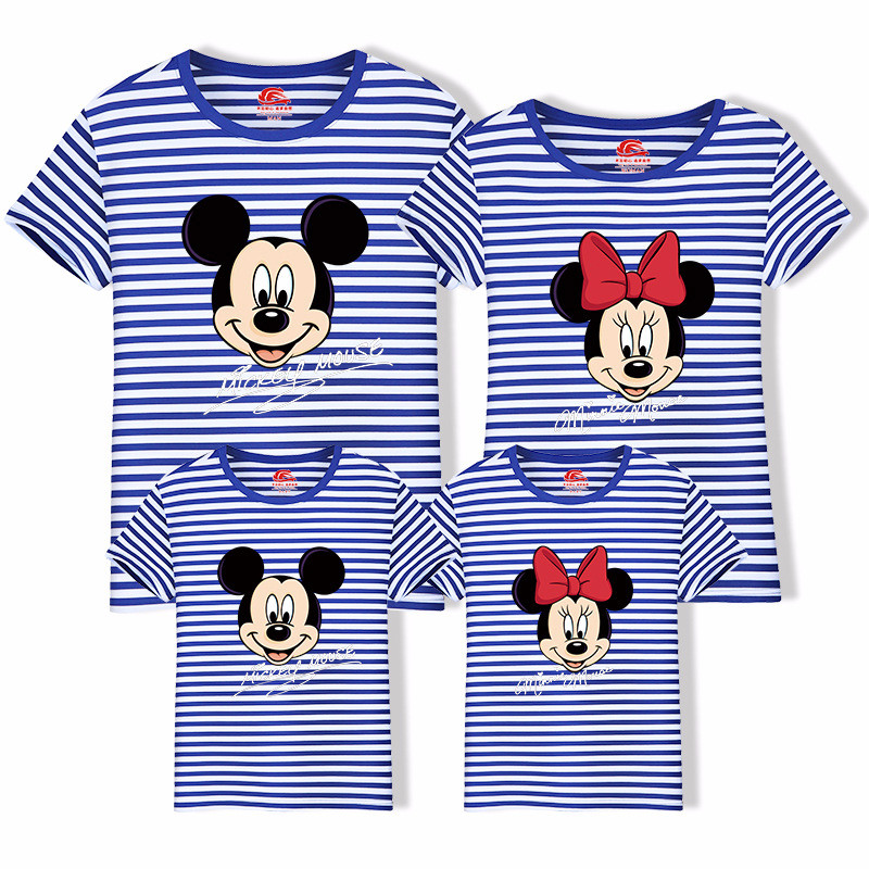 Family Matching Tshirt Father Mother Kids Cute Cartoon Tops Casual Mommy and Me Clothes Sylvanian Families H0070