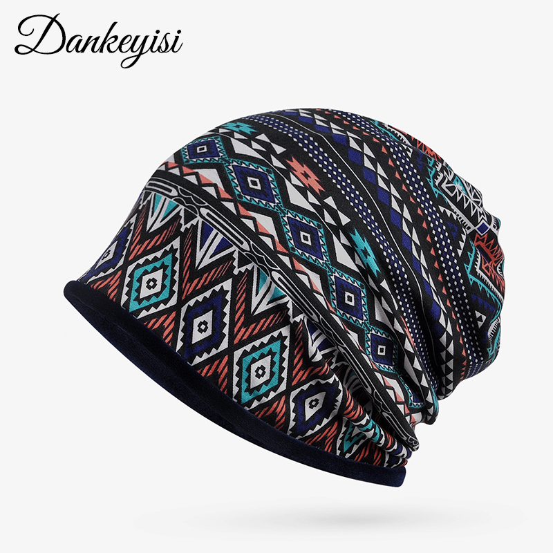 DANKEYISI Women Men Hat Winter   Skullies     Beanies   Knitting   Beanie   Ethnic Warm Caps Unisex Hats For Women Feminino Bone For Ladies