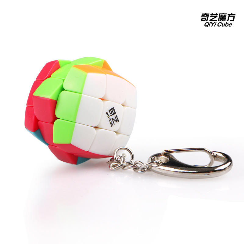 QiYi MoFangGe Keychain 3.0CM MiNi Magic Cube Professional Puzzle Speed Smooth Cube Portable Educational Toys For Children Gifts