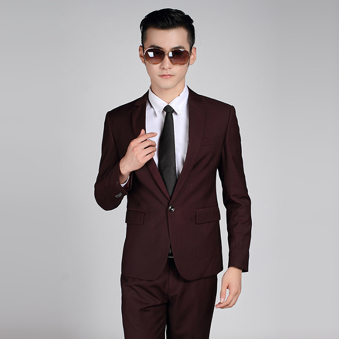 HOCO 2020 Married Men Purple Suit Cultivate One's Morality Business Suit Professional Dress 2 Pieces