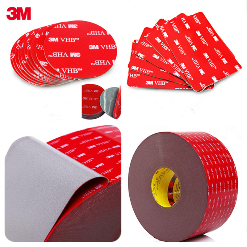 10PCS Die Cut Shape Round 3M VHB 5608 Double Sided Acrylic Foam Adhesive Tape Heavy Duty Mounting Tape Choose Wide