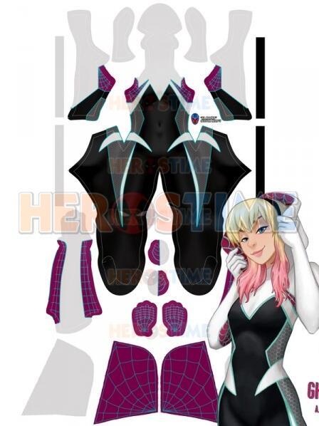 Gwen Stacy Spider Man Costume Ghost Spider Spandex