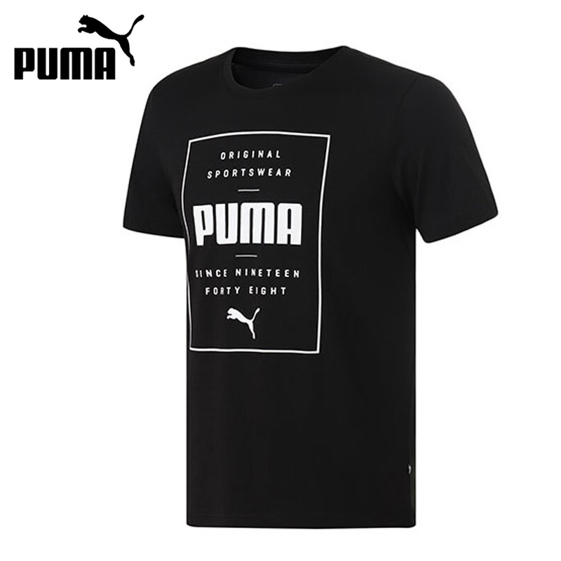 Original New Arrival  PUMA Box PUMA Tee  Men's T-shirts short sleeve Sportswear