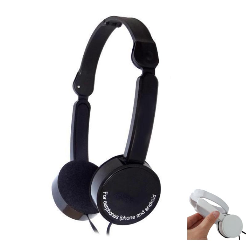 BBGear Foldable Headphone 3.5mm Wired Earphone with Mic Folding Gaming Headphones Headset for Phone Computer MP3 Music Player