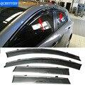 Coche Stylingg Toldos Refugios 4 unids/lote Viseras Ventana Para Mazda 3 Hatchback/Sedan 2007-2016 Sol protección contra la Lluvia Cubre Las pegatinas