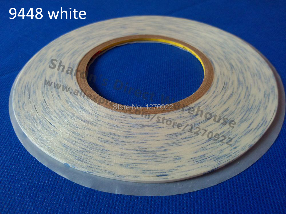 3mm*50M 3M Double Sided Adhesive Tape, 9448, Phone, Tablet, LCD Screen Fix Black/ White Choose, 50 meters roll 0 2mm thick 2mm 50mm choose super strong adhesive double sided sticky tape for cellphone tablet case screen
