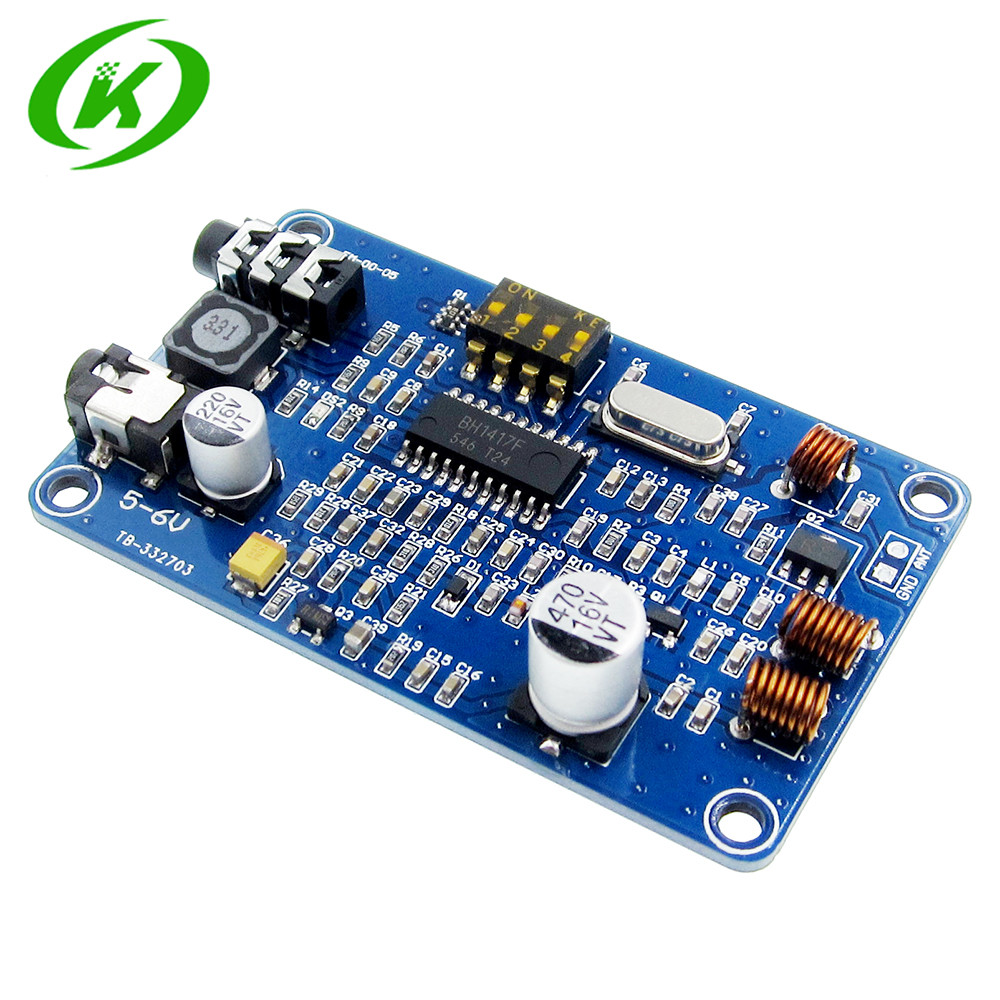 <font><b>BH1417</b></font> 200M 0.5W Digital Radio Station PLL Wireless Two Channel Stereo FM Transmitter Module 5-6V DC image