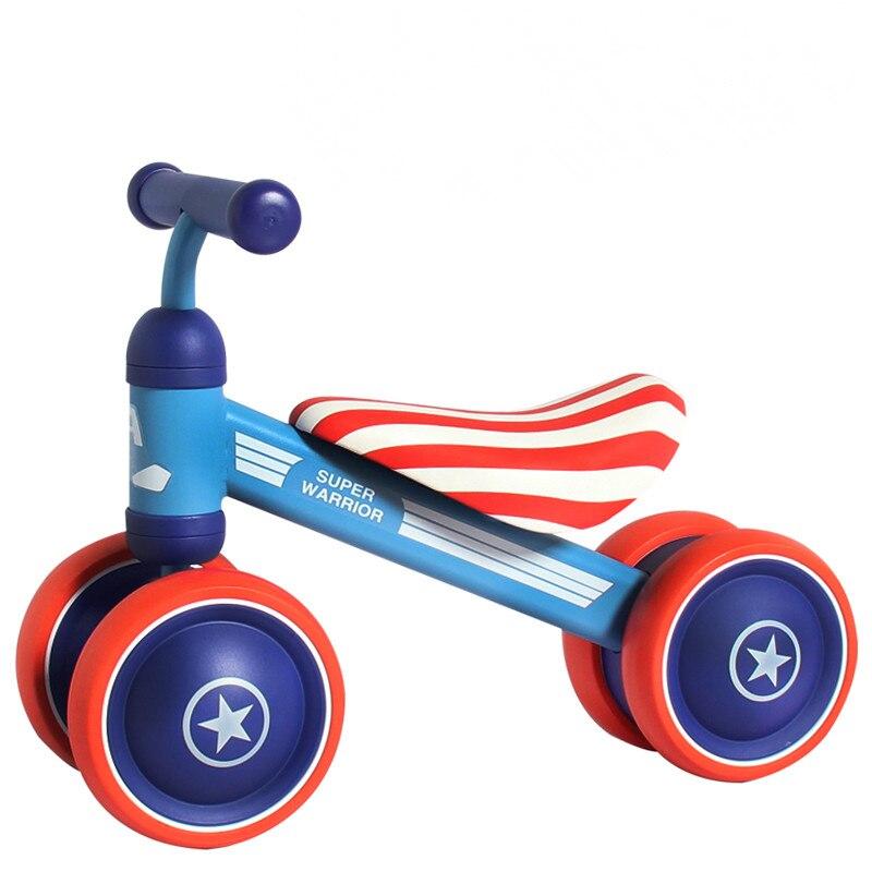 Enfants Balance vélo Tricycle pour enfant vélo bébé marcheur Go-chariots pour marche Train Scooter pour enfant jouet voiture enfants quatre roues