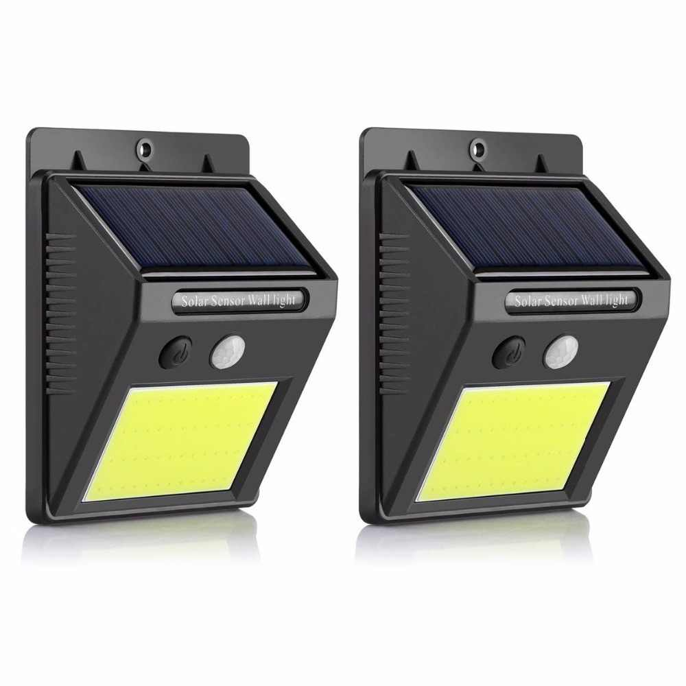 Solar Lights Outdoor Waterproof 48 LED COB Solar Motion Sensor Wall Light Security Lighting with Easy Install for Patio yard
