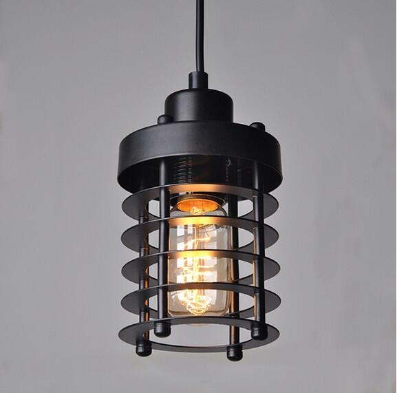American Loft Style Retro Industrial Pendant Light Simple Iron Antique Pendant Lamp For Diningroom Edison Bulb Light Fixtures
