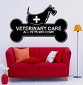 Grooming Salon Dogs Veterinary Care All AnimalsWelcome Clinic Vinyl Wall Sticker Pet Shop Pet Salon Vet Clinic Decoration
