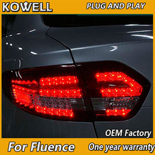 KOWELL Car Styling for Renault Fluence LED Tail Lights 2010 2011 2012-2014 Almera SM3 Tail Light Rear Lamp DRL+Brake+Park+Signal(China)