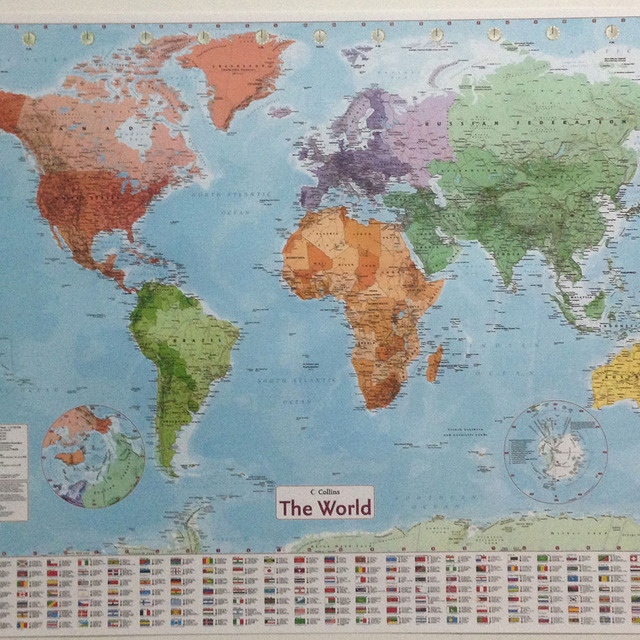 Large Map Of The World Poster.100x70cm Wall Sticker World Map Large Map Of The World Poster With