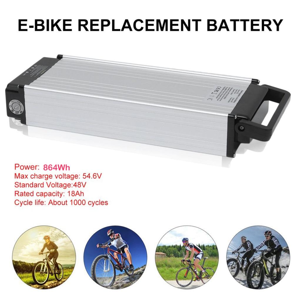 48V 18Ah 864Wh Electric Bicycle Battery Professional E Bike Replacement Battery Portable Electric Bike Conversion Kit EU Plug