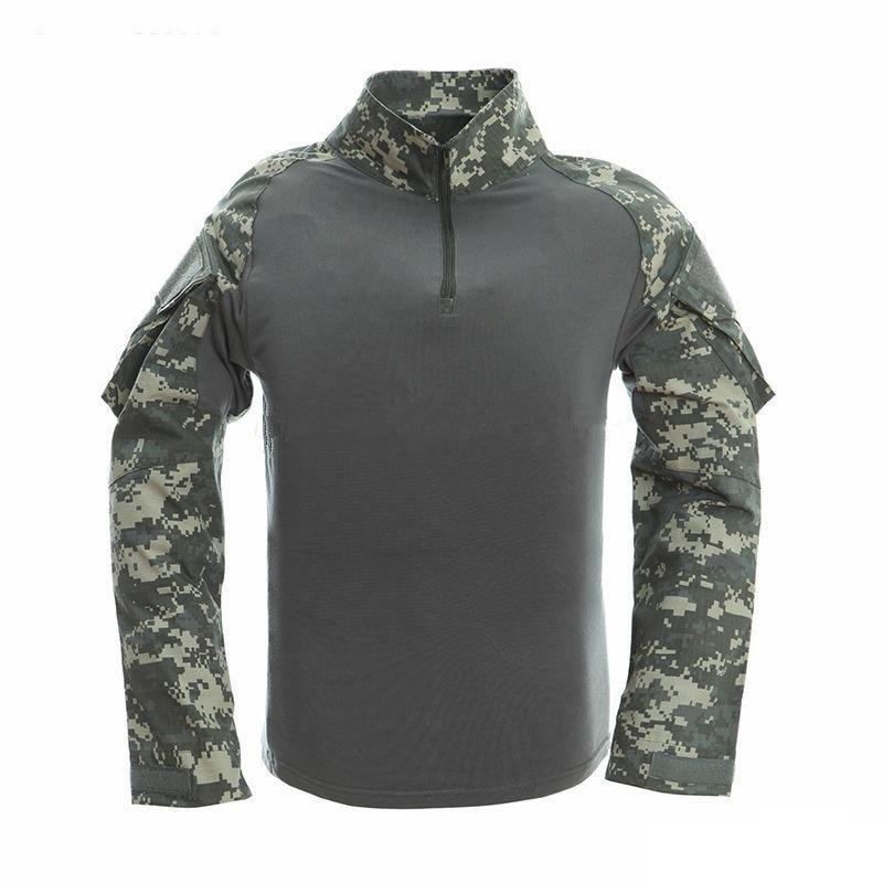Camouflage Mannelijke T-shirts Leger Combat Tactische T-shirt - Herenkleding