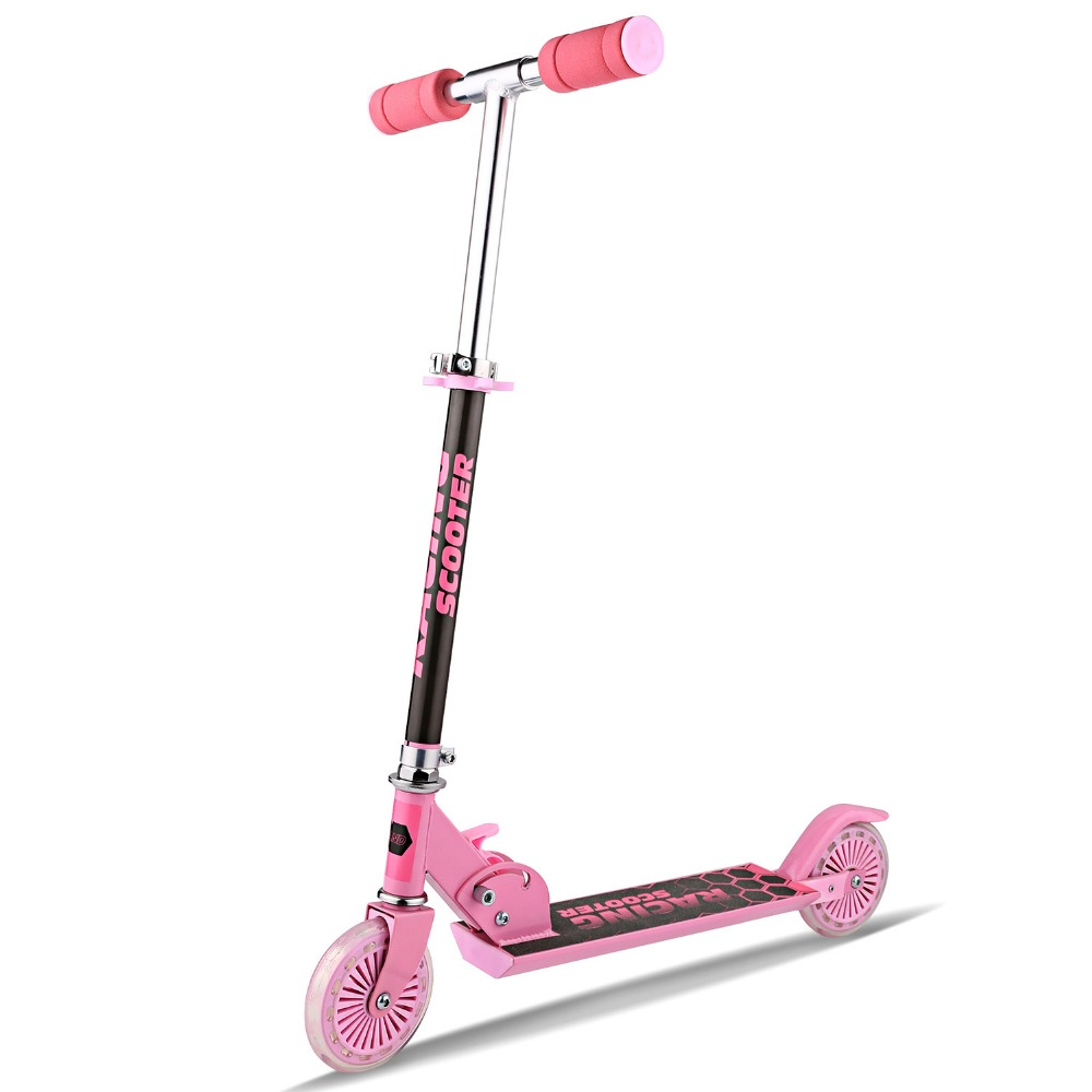 New Brand Kick Scooter For Children Adjustable Height Foldable Scooter Trottinette Pink Scooters For Girl envy ats dirt scooter red brand new complete