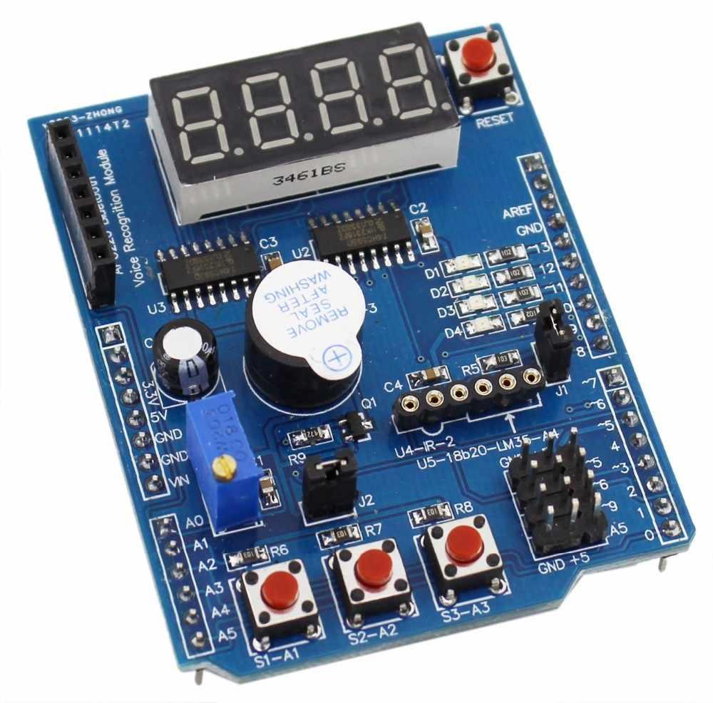 Multifuncional Kit Placa de Expansão Escudo Baseado R3 LENARD de Aprendizagem Para Arduino UNO Mega 2560 Diy Kit de Aprendizagem